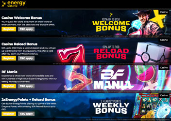 energy casino promotions